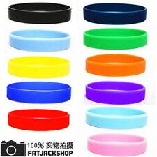 Elastic Solid Silicone Rubber Bangle Belt Bracelet Wrist Bands Bracelet 2pcs