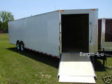 NEW 8.5x24 8.5 X 24 Snowmobile Enclosed Carhauler Cargo Trailer w/ Ramps