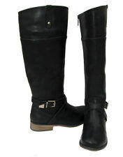 New Women's Stack Heel Knee High Riding Boots Black winter snow Ladies size 6.5