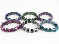 New LADIES GIRLS HEMATITE Stretchy Bracelet Pretty Colours BUY 2 GET 1 FREE