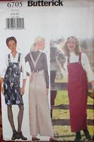 UNCUT Butterick Sewing Pattern 6705 Misses Straight Jumper Casual OOP 6 8 10 EZ