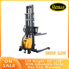 Apollolift Semi Electric Straddle Stacker 3300lbs 63118 Lift Material Height