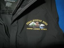 DRIFT CREEK OUTDOORS hooded Nylon rain Jacket Kenai-Russian River Alaska sz L