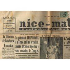 Journal NICE-MATIN Mariage VERVUST à BEAULIEU Reine CORSES Béatrice RENUCCI 1953
