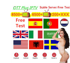 12 Months IP & TV Subscription For FIRESTICK,MAG BOX,ANDROID,IOS,SMART TV, STBEM