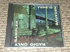 TYPE O NEGATIVE MEGA RARE US METAL PROMO CD Radio Only Sampler 5TRX PICTURE DISC