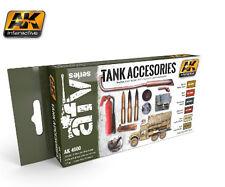 Ak Interactive AKI 4000- Tank Accessories Acrylic Paint Set (6 Colors)