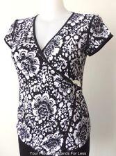 JOSEPH RIBKOFF  Made in Australia  Size 16 US 12  Black and White Stretch Top
