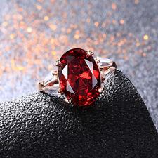 925 Silver 10 * 14 MM Oval Mystic Rainbow Topaz Gemstone Birthstone Ring Sz 5-12