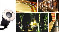 5 x 3w DC12v LED Souterraine Lampe Encastré Exterieur Jardin Spot Blanc Chaud