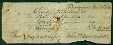 1856 Bridgeport,PA Hand Written Tax Receipt