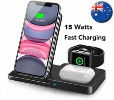 3 in 1 Wireless Charger Dock for Apple Watch iPhone 11/ 12 Pro Max Airpod Pro