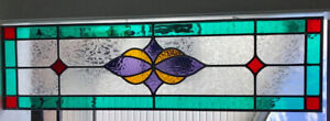 Spectacular Stained glass window  / transom