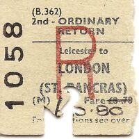 B.R.B. Edmondson Ticket - Leicester to London St. Pancras