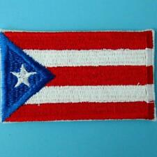 Puerto Rico Flag Iron On Sew Patch Applique Puerto Rican Biker Motor Embroidered