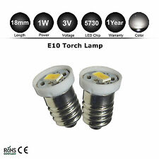 2X 5730 LED Bulb 3V 2D/C Warm White MES E10 1447 Screw Lamp for Torch Flashlight