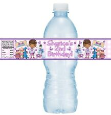 12 Doc McStuffins Birthday Party or Baby Shower Water Bottle Stickers Dottie