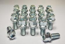 20 x OE O.E Mercedes Merc M14 x 1.5, 17mm Hex, 27mm thread, radius wheel bolts.