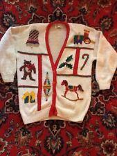 Trains & Horses & Bears Oh My! Marisa Christina Christmas Sweater L Not Ugly EUC