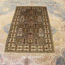 Yilong 3'x5' Small Handmade Carpet Antique Home Decor Hand Knotted Silk Rug 232B