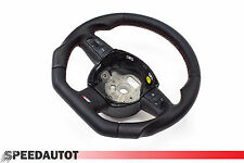 Tuning S-Line Flattened Leather Steering Wheel Multifunction Black Audi A4