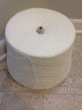 Cone Acrylic-Nylon Boucle Yarn ~White