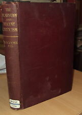 1907 - THE INCARNATION & RECENT CRITICISM by R J COOKE - 1st EDITION