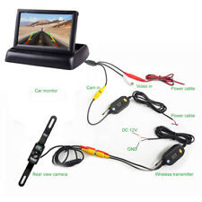 "Night Vision License Plate Reversing Camera 4.3"" Collapsible LCD Display Screen"