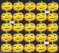 uralter Oblaten Bogen kleine Halloween Kürbis Köpfe L&B 32521 - DIE CUT SCRAPS