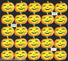 Très ancienne crumpets Arc petite Halloween Citrouille têtes L & B 32521-la CUT scraps