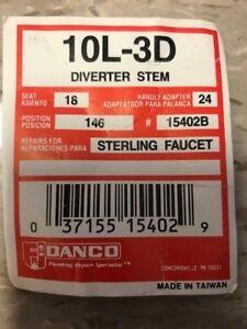 NEW DANCO DIVERTER STEM 10L-3D FOR STERLING FAUCET,15402B FOR BATH
