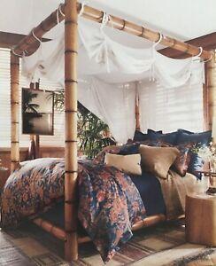 Ralph Lauren Indigo Bali Full Queen Comforter Sheet Set 7pc $1059 - Last set!