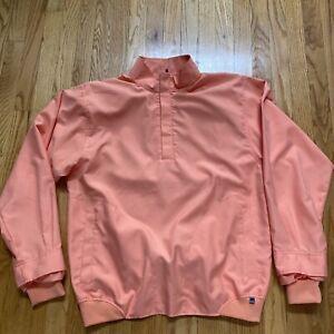 Zero Restriction Orange Men's L Tour Series 1/4 Zip Pullover Jacket NWOT