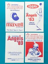 1983 California Angels MLB Schedules Collection - 4 Different Varieties