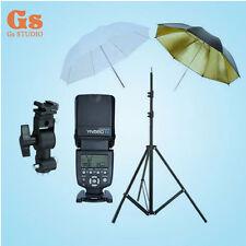 "Yongnuo YN-560IV Flash Speedlite + Light Stand + Bracket D + 2pcs 33"" Umbrella"