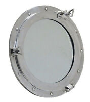 "24"" Window Porthole Mirror-Aluminum Ship Porthole~Nautical Gift Home Wall Decor"