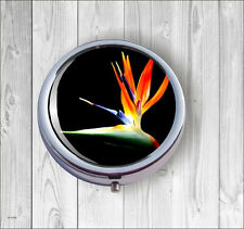 Flower Bird Of Paradise Pill Box Round -kli9Z