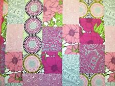 NEW brothers n sisters  fabric  1 5//8 YRD  Pink with Brown dots 100/% cotton