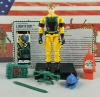 Original 1988 GI JOE LIGHTFOOT V1 ARAH Complete UNBROKEN figure file card Cobra