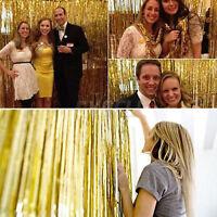 Tinsel Shimmer Foil Door Metallic Backdrop Curtain Fringe Wedding Birthday Party