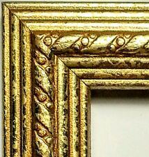 100 ft - Ornate Gold Picture Frame Moulding Lengths, WOOD, Ribbon, Crown Profile