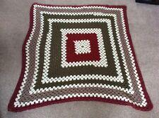 """Lovely Vintage Crochet Square Blanket Granny Blanket Throw 42"""" x 43"""""""