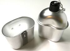 Wwii Us Army Infantry M1942 Aluminum Canteen & Cup Combo