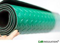 Diamond Insulated Mat Rubber Garage Flooring Matting 1.5m x 1m Insulation Thick
