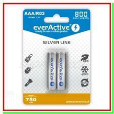 2 batterie ricaricabili aaa pile ministilo 1,2v 800mAh NiMh AAA universali