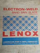 LENOX ELECTRON WELD HI SPD STEEL BAND SAW BLADE 10' 10.5