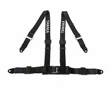 2 x Tanaka 4-point NEW Type Buckle Sports Racing Harness Seat Belt (Black)