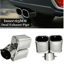 Universal Car Muffler Tip Exhaust Pipe Stainless Steel Chrome Fit 2.5 inch