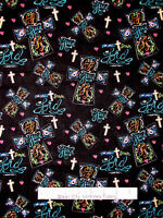 Religious Fabric - Cross Lord Jesus God Heaven Grace Church CP54582 Toss - Yard