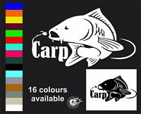 Carp Fishing Car Window bumper laptop sticker Vinyl Decal Angling Fishing